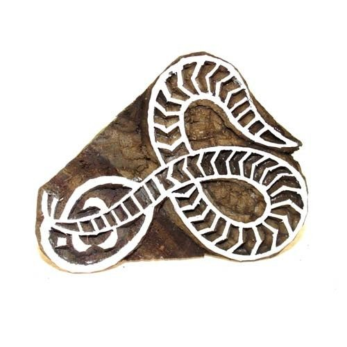 Indian Wood Block - Snake Print