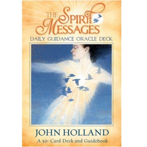 The Spirit Messages Daily Guidance Oracle Deck, with its accompanying guidebook and 50 beautifully designed cards, was created by John Holland to assist you in getting support, comfort and divine guidance from Spirit, your loved ones, family, ancestors, friends, guides and helpers in the Spirit World. These cards will also help the user to develop a higher awareness of Spirit and remind you that you are never truly alone. These extraordinary cards will bring insight and clarity around some of the major decision points in your life, or just to reaffirm that you're making the right decisions. The Spirit World communicates through these cards with guidance and direction in matters of self-love, vulnerability, relationships, trust and more. As you work with these cards, they will strengthen your natural ability of intuition and the beautiful, loving bond that you and the Spirit World share.