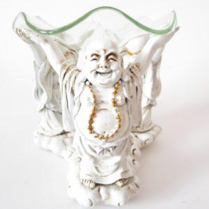 3 Buddha Oil Burner White