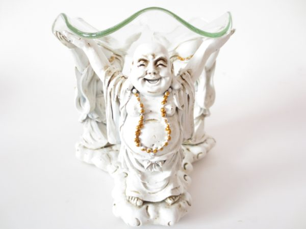 3 Buddha Oil Burner White