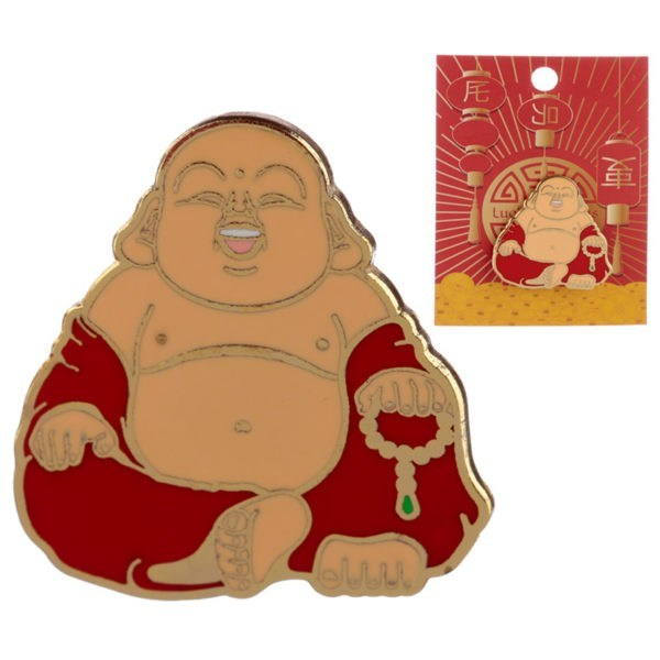 Happy Buddha Pin Badge