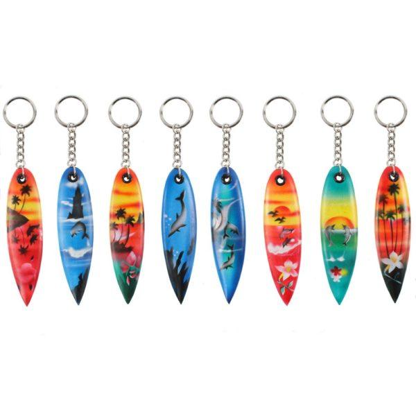 Surfboard keyring bali