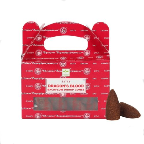 satya dragons blood backflow incense cones