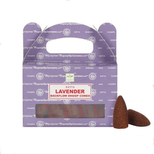 satya lavender backflow cones