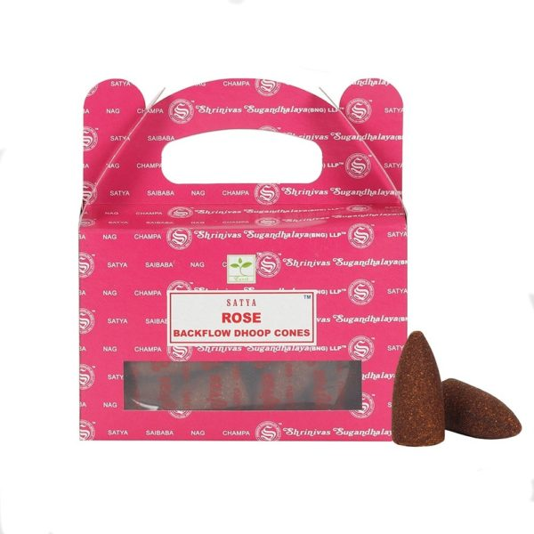 Satya Rose Backflow Incense Cones