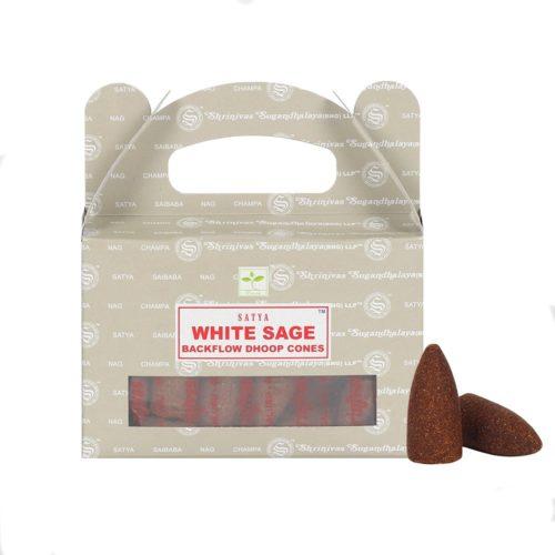 satya white sage backflow cones