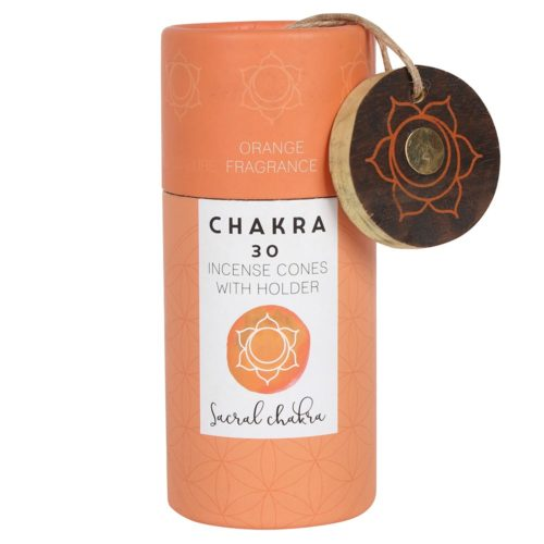 sacral chakra orange incense cones