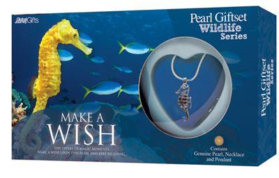 Seahorse pearl gift set