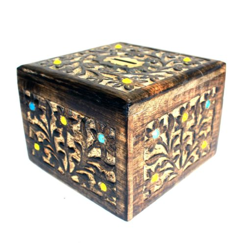 wood money box