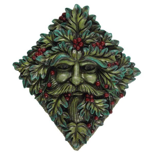 green man wall mask