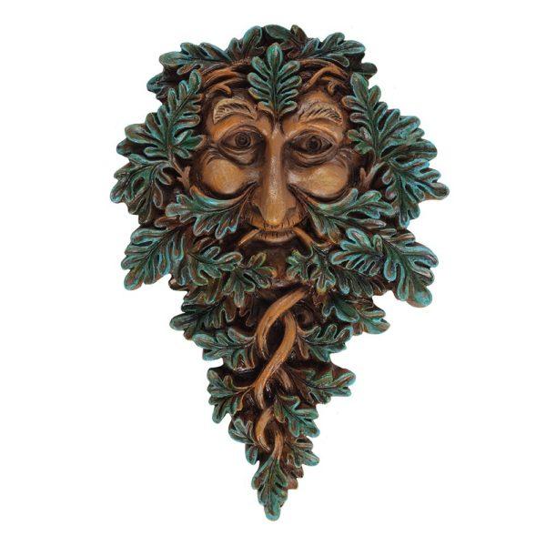 leafy green man wall plaque