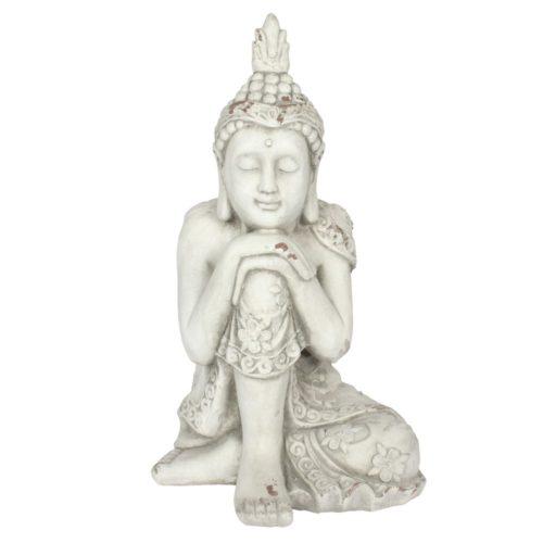 white garden buddha