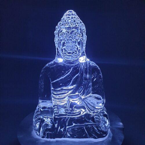 CRYSTAL GLASS BUDDHA VARADAMUDRA