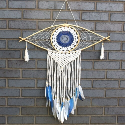 blue evil eye dreamcatcher