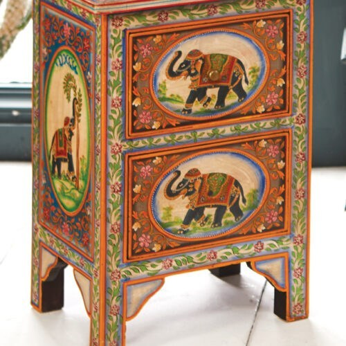 elephant bed side table