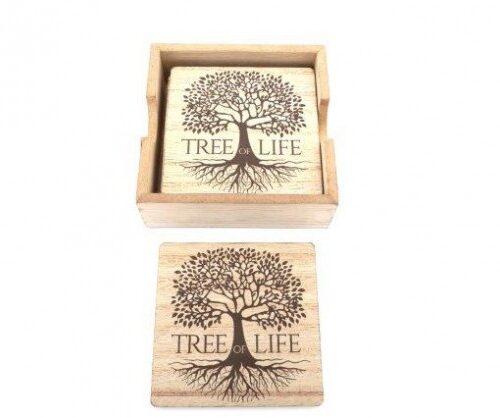 tree of life tea coasters