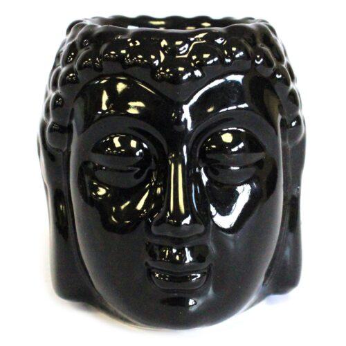 black buddha head oil burner