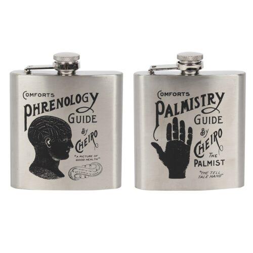 phrenology hip flask
